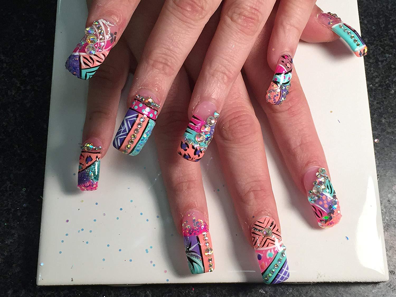 Ecbasket Clear color half cover Acrylic Nail Tips Long nail tips 500pcs/box