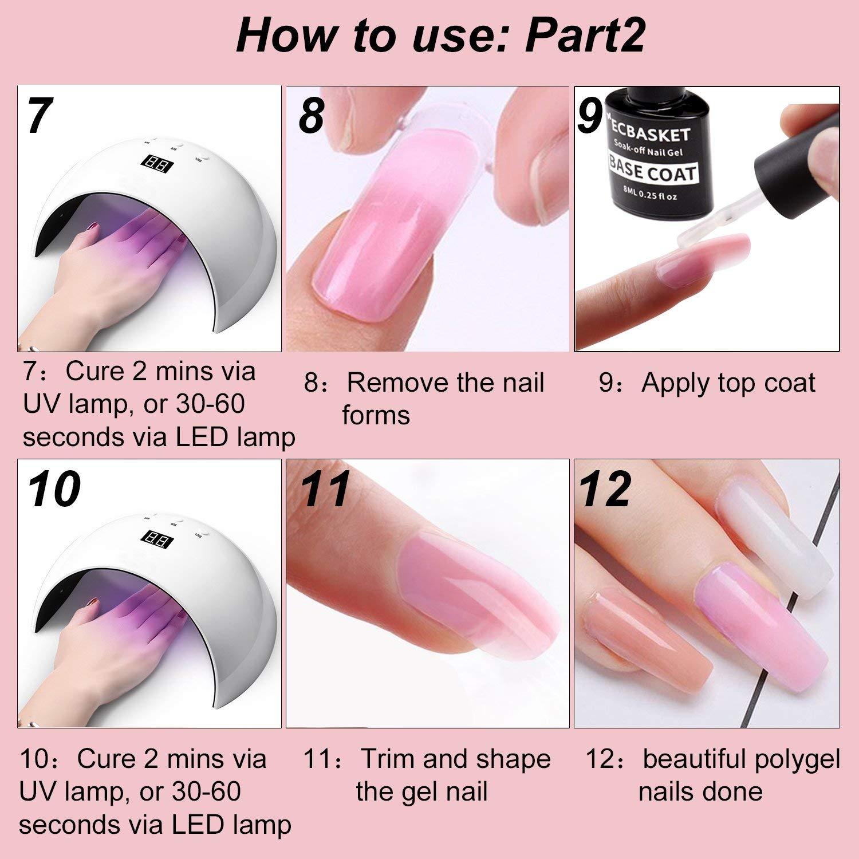 ECBASKET UPC:602168544749 Poly Nail Gel Kit Gel Nail Extension ...